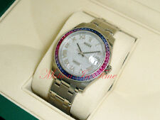 Rolex Oyster Perpetual Datejust Pearlmaster 39mm W/G Baguette Bezel 86349SAFUBL