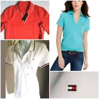 TOMMY HILFIGER womens Polo shirt V neck
