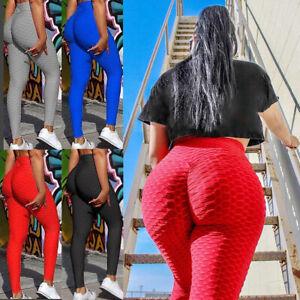 KIRI RATA Women Leggings Yoga Pants Anti Cellulite Fitness Booty Butt Lifting UK