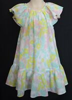 COUNTRY ROAD  ~ Pink Mint Yellow White Floral Frilled Summer Cotton Sundress 4