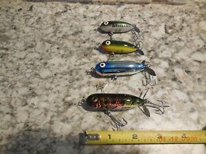 LOT 4 HEDDON TORPEDO TOPWATER FISHING LURES