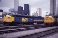 VIA Railroad Train Streamliner Locomotives TORONTO ON Original 1981 Photo Slide