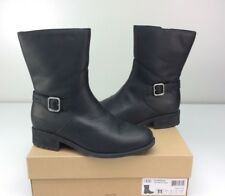 UGG KEPPLER Black Leather Boots Women's Size US 11