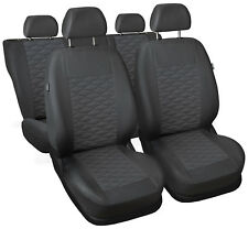 CAR SEAT COVERS full set fit Volkswagen Passat B5 - leatherette Eco leather grey