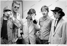 Squeeze 19x13 CANDID 1980 BACKSTAGE GROUP PHOTO Chris Difford / Glenn Tilbrook