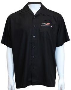 David Carey Classic Corvettes C6 Embroidered Mechanics Work Shirts