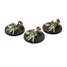 DEATH KORPS OF KRIEG 3 Heavy weapon team Squad Lascannon #2 PAINTED 40K