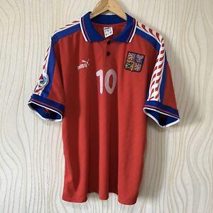 CZECH REPUBLIC 1996 HOME FOOTBALL SHIRT SOCCER JERSEY PUMA #10