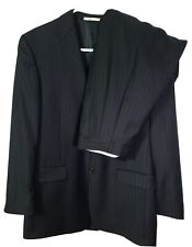 Hickey Freeman Dillard's Suit Sz 40 Reg  Pinstripe Wool