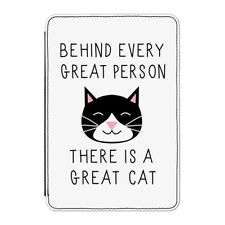 "Behind Every Great Person Is A Great Cat Case Cover for Kindle 6"" E-reader Funny"