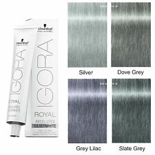 Schwarzkopf Igora Royal Grey-Lilac Dove-Grey, Silver, Slate Grey Hair Dye/Colour