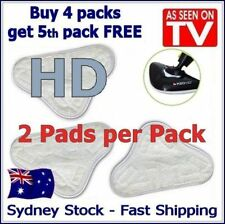 2 PACK -After-market H20 H2O StickOn White Steam Cleaning Mop HD Pads Microfibe