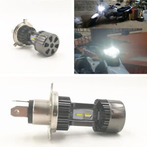 12V Motorcycle 30W H4 White LED Bulb Hi/Lo Beam Headlight Fog Light Waterproof