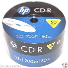 50 CD -R HP 80 minuti 700MB 52X Shrink 50 Vuoti CDR + 1cd Verbatim CRE00070-3