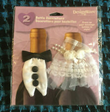 Wedding Dress and Tuxedo Wine Bottle Cover Decoration Bridal Party Favor