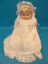 "1998 Cititoy GF16 BS192 China Rubber Talking ""Mama"" Baby Girl Doll White Clothes"