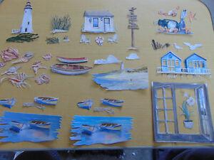TATTERED LACE Die Cuts Charisma OCEAN SHORE sea sandunes beach hut seagull boat