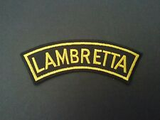 SCOOTER RALLY SEW ON / IRON ON PATCH:- LAMBRETTA BLACK & YELLOW SHOULDER STRIPE