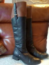 Black And Tan Boots 6 Slender Calf