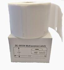 6 Rolls - 30334 Dymo LabelWriters Medium Multipurpose Thermal Barcode Labels