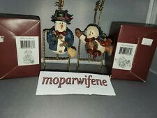 Lot of 2 Boyd's Bears ornament figurines from Folkstone Collection w/ boxes