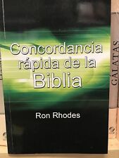 CONCORDANCIA RAPIDA DE LA BIBLIA RON RHODES TAPA RUSTICA