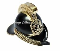 Medieval Fireman Helmet Brass Black Finish Firefighting Armors Collectibles
