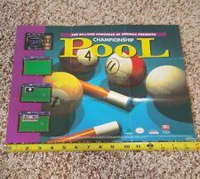 Championship Pool (Super Nintendo SNES) Promo Insert Poster only