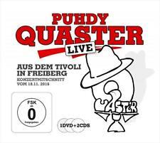 PUHDY QUASTER Live Aus Dem Tivoli In Freiberg 2016 2CD DVD Puhdys Hertrampf NEU