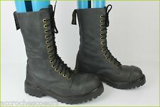 Boots Coquées GLADIATOR Made in England Cuir Gras Gris UK 6 / 39,5 TTBE