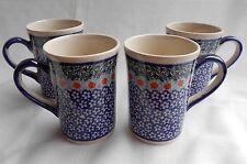 GUT 4 Schöne Kaffee / Tee Tasse aus Bunzlauer Keramik; 200ml (*4209)