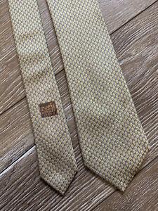 Hermès Paris Silk Tie Necktie Gold 659128T HH Made in France