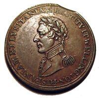 OLD CANADIAN TOKENS COINS 1812 Wellington Token CUIDAD..SALAMANCA Breton 987