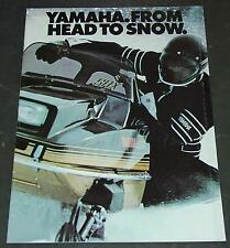VINTAGE 1980 YAMAHA SNOWMOBILE SALES BROCHURE POSTER SIZE 28 PAGES   (464)