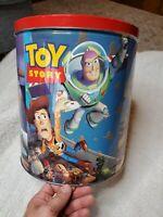 Vintage Disney Toy Story Empty Metal Popcorn Tin - 1995