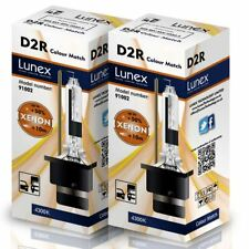 2 x D2R Genuine LUNEX XENON 4300K HID BULB compatible with 85126 66050 66250
