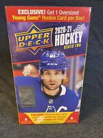 2020-21 Upper Deck Series 2 Hockey Blaster Box 1 Young Gun Each Box SEALED