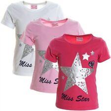 Markenlose Kurzarm Mädchen-Tops, - T-Shirts & -Blusen mit Motiv