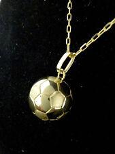 "ballon foot  or jaune 18K 750/1000  ""fabrication française"""