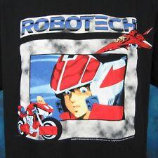 vintage 90s ROBOTECH TATSUNOKO ANIME T-Shirt LARGE japanese tv sci fi cartoon