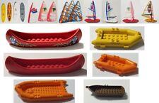 Lego Boat, Raft, Canoe, Wind Sail Surf Board - Orange, Brown, Red - You Pick!