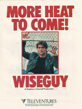 Ken Wahl Wiseguy 1990 Ad- more heat to come! Stephen J Cannell production