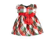 BONNIE BABY Plaid Taffeta Christmas Dress Red/Green ~ NWT ~ 12M Orig $60