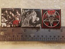 set of 3 ROOT pins (master's hammer, mortuary drape, samael, torr, bathory)