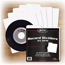100 NEW 45 RPM Record Dividers With Index Tab for 7 Inch Vinyl Storage Boxes