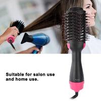 2 in 1 Straightening & Volumizer Rotating Hair Brush Hot Air & Drying Hair Dryer