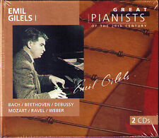 Emil GILELS 1: GREAT PIANISTS OF THE 20TH CENTURY 2CD Bach Beethoven Weber Ravel