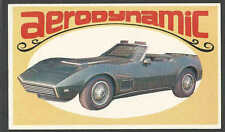 1970* AERO DYNAMIC CONCEPT CAR AIRPLANE INSPIRED MINT COLLECTOR CARD