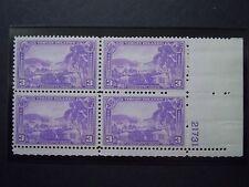 """1937 #802 3c Virgin Islands Plate Block MNH OG F/VF """"Includes Mount"""""""