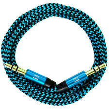 50cm/0,5m Nylon Audio Kabel AUX Klinke 3,5 für Autoradio iPhone 5 6 7 iPad blau